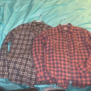 J.crew men's flannels size medium - two for 1